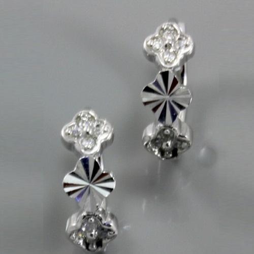 6df5d1745 Stříbrné náušnice kroužky s bílými zirkony 317120