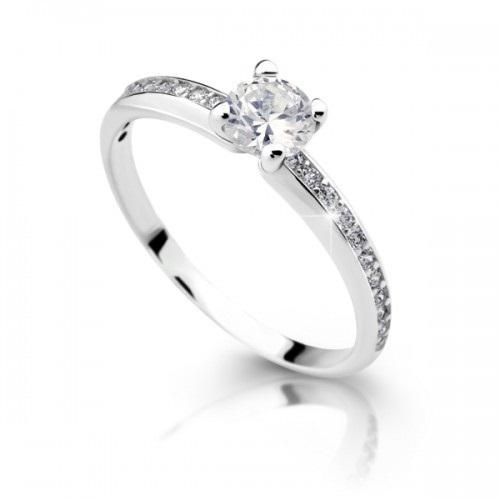 Damsky Zasnubni Prsten Z Bileho Zlata Dlr 2354