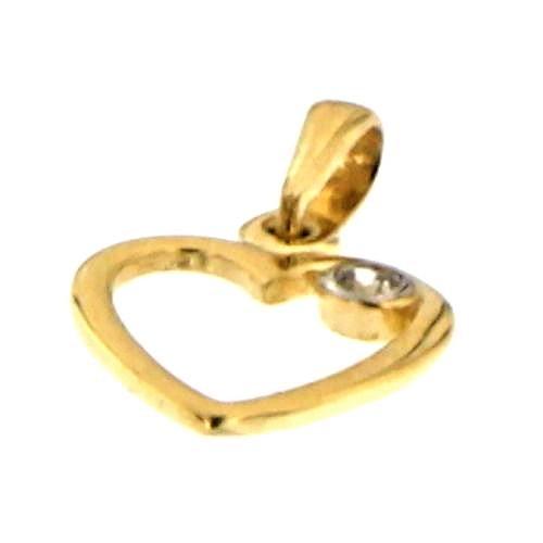 Zlatý přívěsek srdíčko PDE0106