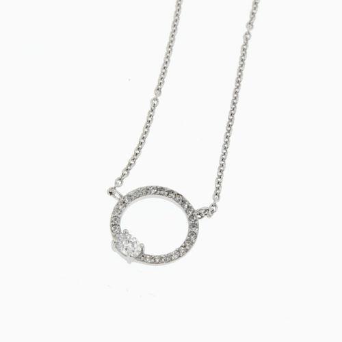 Dámský stříbrný řetízek se zirkony WTN0185