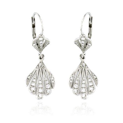 Dámské visací náušnice s diamanty 27986-17