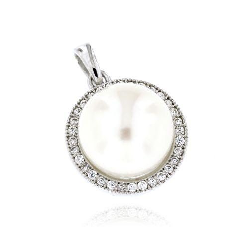 Dámský stříbrný přívěsek s perlou 2113