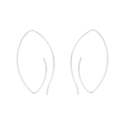 Stříbrné náušnice oválky HTE0558