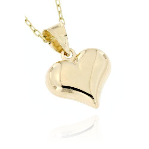 Zlatý přívěsek hladké srdce 3664