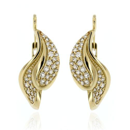 Zlaté diamantové náušnice 33343