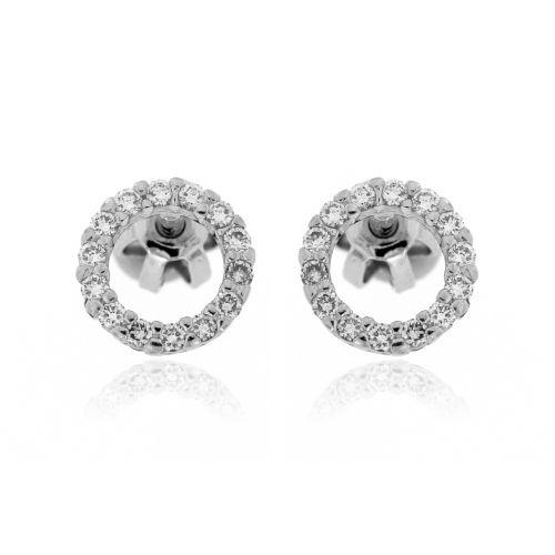 Zlaté diamantové náušnice 33904