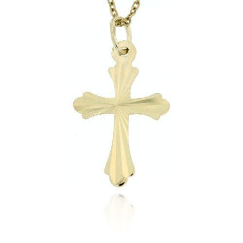 Zlatý přívěsek křížek 1032ž