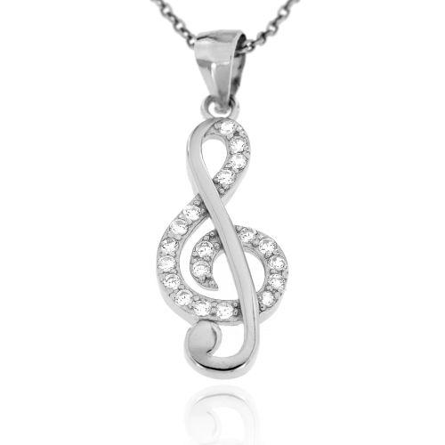 Stříbrný přívěsek houslový klíč 1814