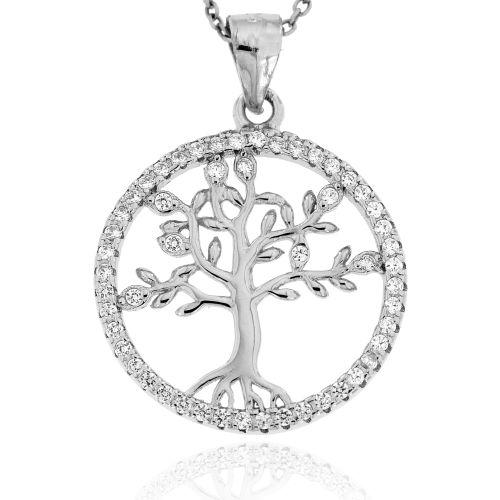 Stříbrný přívěsek strom života 127