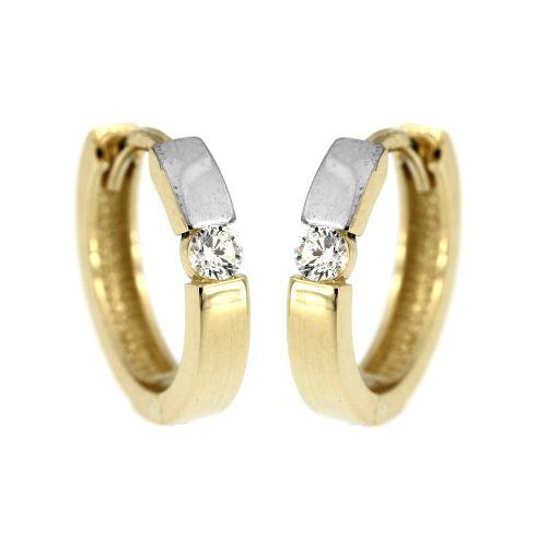 Zlaté kroužky s kamínkem 387