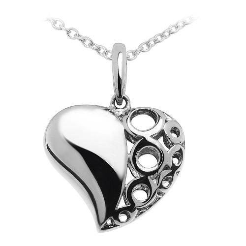 Stříbrný dámský přívěsek ve tvaru srdíčka 3141868