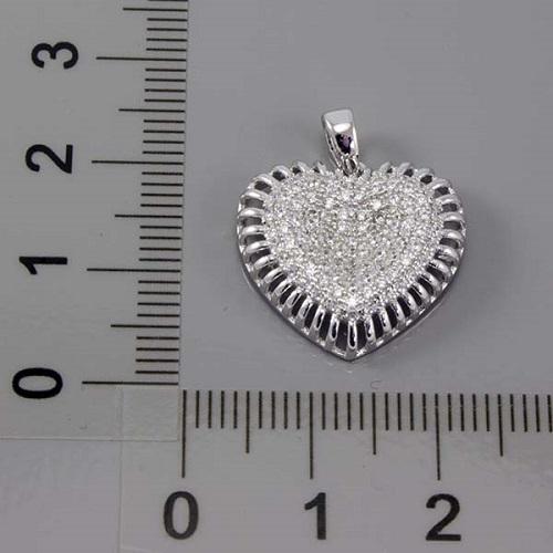 Stříbrný přívěsek srdce 348310