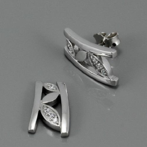Dámské stříbrné náušnice 3140674