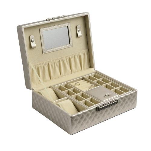 JK BOX SP-570/A20, Dámská šperkovnice krémová