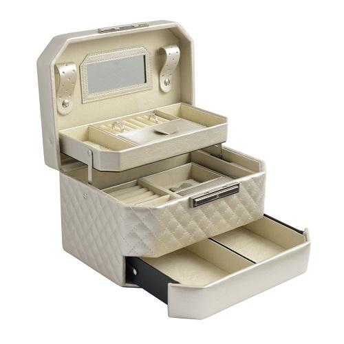 JK BOX SP-930/A20, Dámská šperkovnice krémová