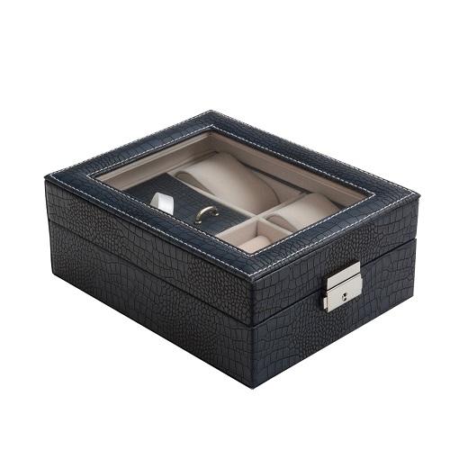 JK BOX SP-1810/A14, Kazeta na hodinky a šperky modrá