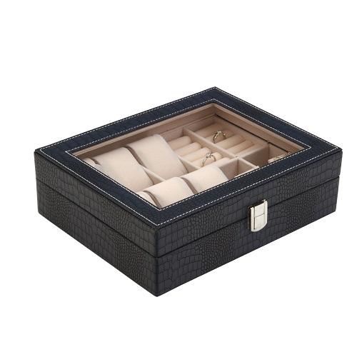JK BOX SP-1814/A14, Kazeta na hodinky a šperky modrá