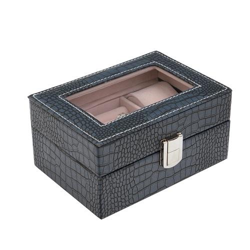 JK BOX SP-1813/A14, Kazeta na hodinky a šperky modrá