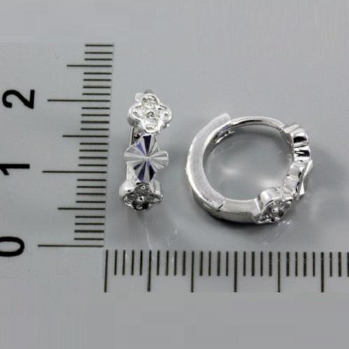 Stříbrné náušnice kroužky s bílými zirkony 317120