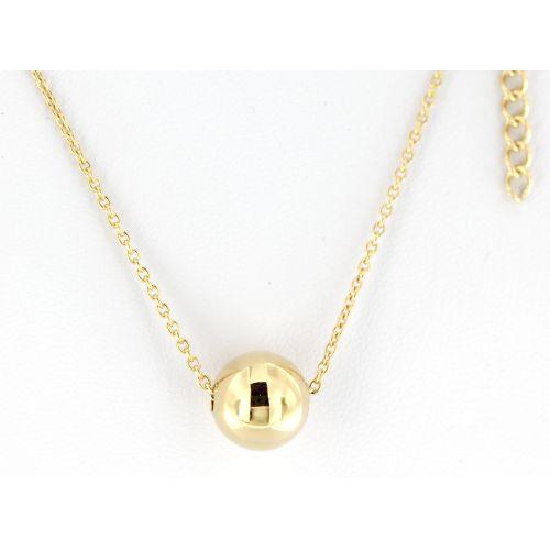 Pozlacený dámský náhrdelník s kuličkou