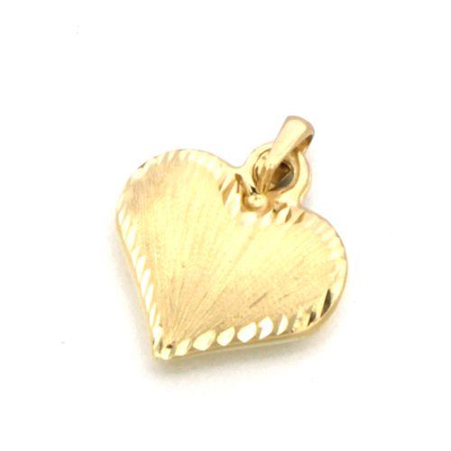 Zlatý přívěsek srdíčko PHC0136