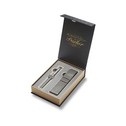 Parker Royal Urban Premium Silver Powder CT - plnicí pero, dárková sada