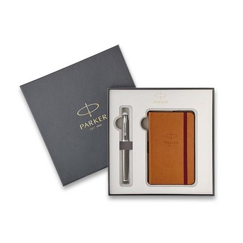 Parker Royal IM Premium Dark Espresso CT - plnicí pero, dárková sada