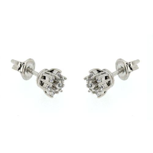 Dámské stříbrné náušnice kytičky MDD011634