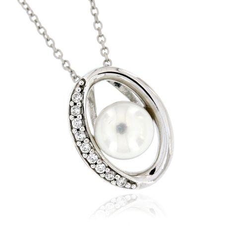 Dámský stříbrný přívěsek s perlou 7534