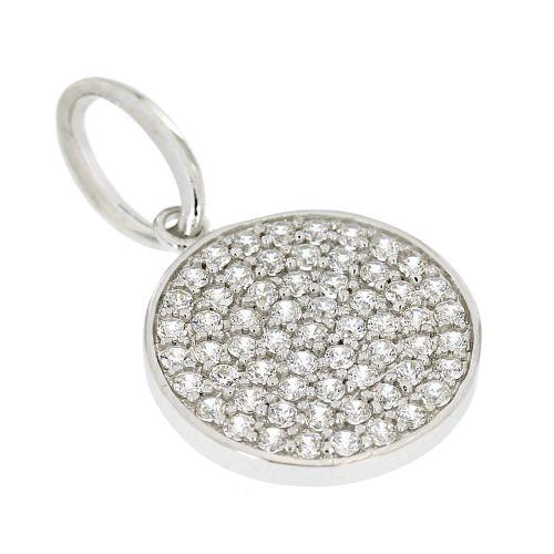 Stříbrný přívěsek s bílými kamínky AP6756