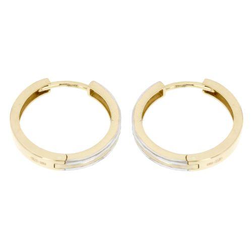 Kroužky ze žlutého a bílého zlata 4139