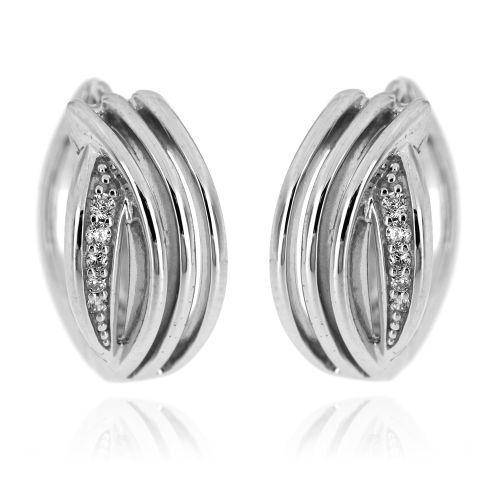 Stříbrné dámské kroužky s bílými zirkony 10559