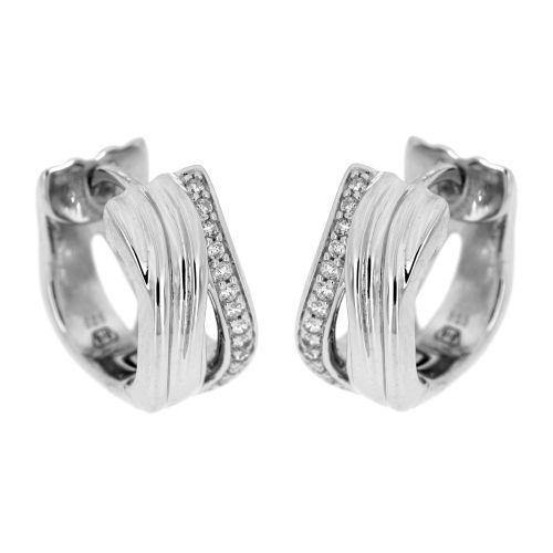 Stříbrné dámské náušnice kroužky 10692