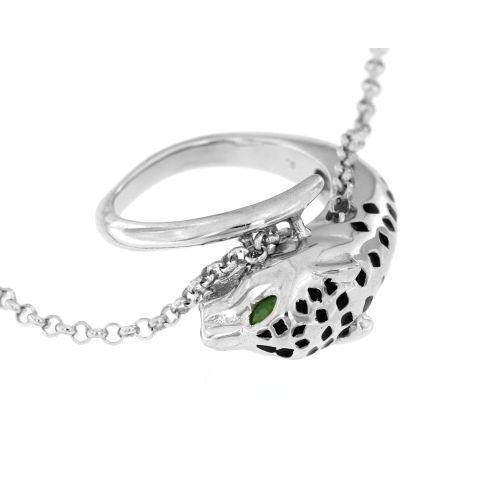 Stříbrný náhrdelník s přívěskem pantera