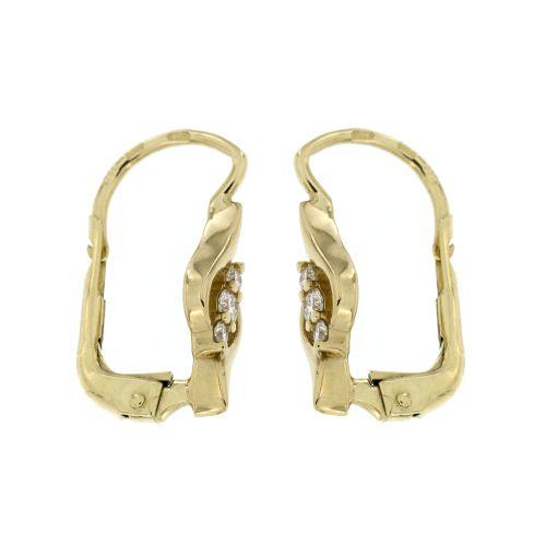 Zlaté diamantové náušnice 33336