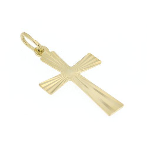 Zlatý přívěsek křížek 597