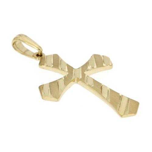 Zlatý přívěsek křížek ze žlutého zlata 2835