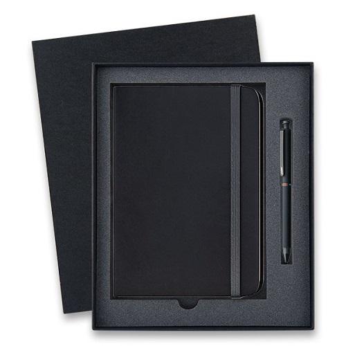 Lamy Tri Pen ST Matt Black - multifunkční tužka, dárková sada se zápisníkem