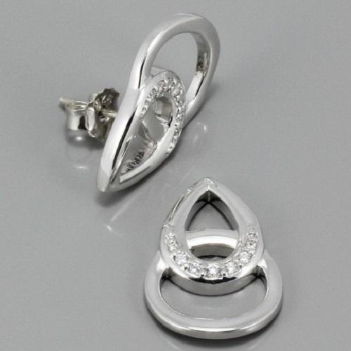 Dámské stříbrné náušnice 3140780