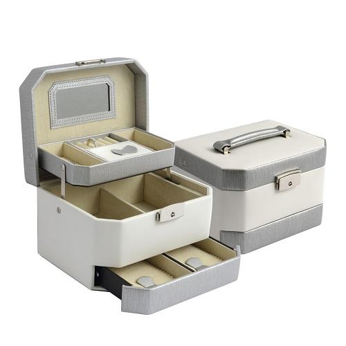 JK BOX SP-933/A20/AG, Dámská šperkovnice krémová