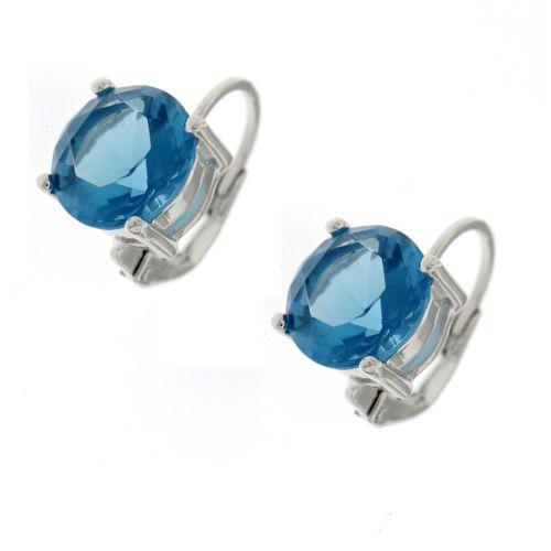 Dámské náušnice s modrým kamenem TE1727M