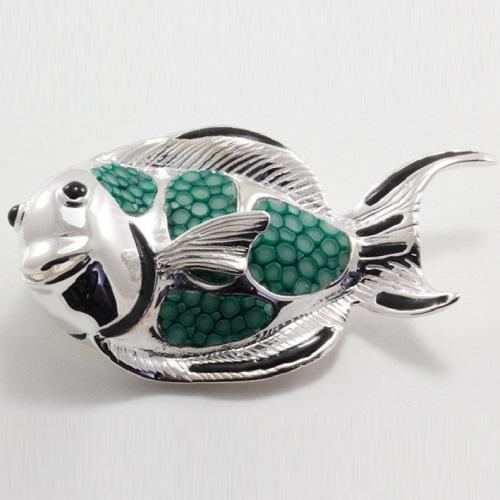 Dámský stříbrný přívěsek ryba 326010