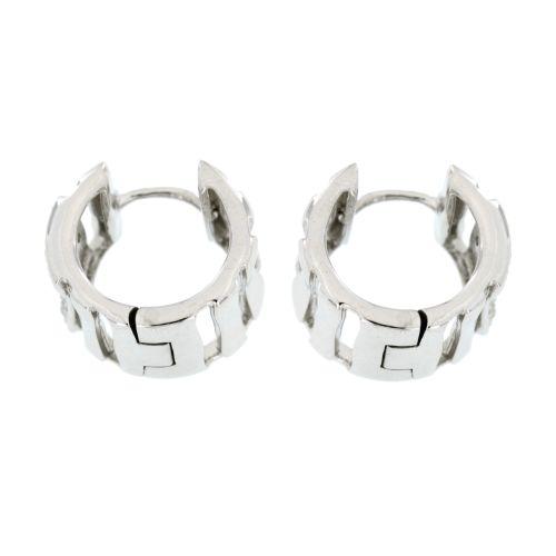 Stříbrné náušnice kroužky se zirkony AE10415