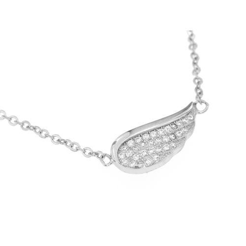 Stříbrný dámský náhrdelník andělské křídlo 058