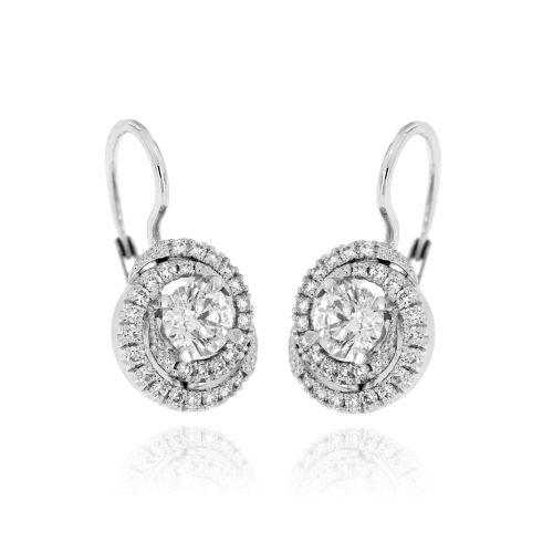 Diamantové náušnice z bílého zlata 33148