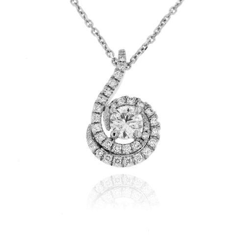 Diamantový náhrdelník z bílého zlata 33149
