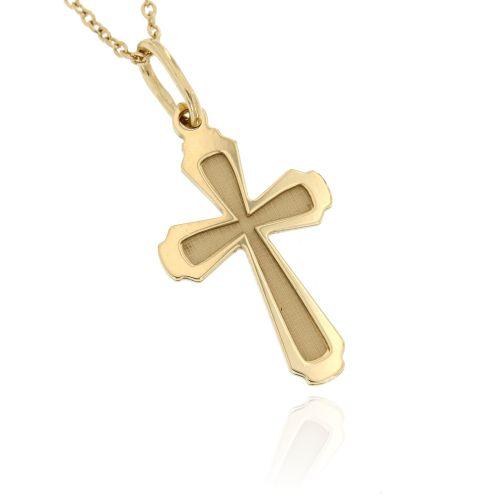 Zlatý přívěsek křížek 055