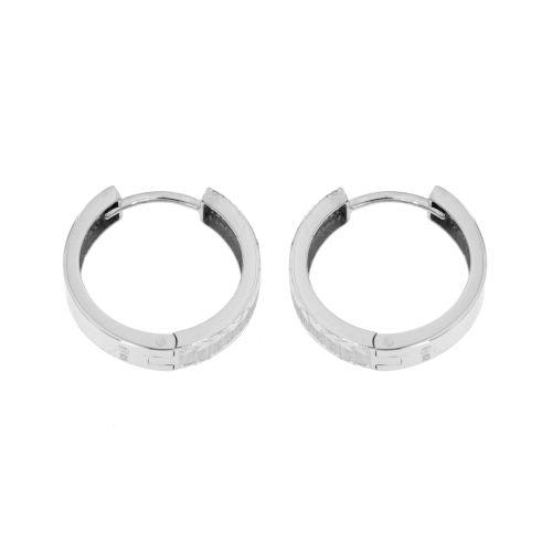 Stříbrné náušnice kroužky EDC221