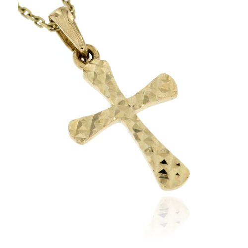 Zlatý přívěsek křížek ze žlutého zlata 496