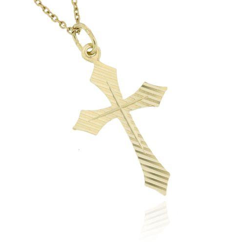 Zlatý přívěsek křížek 030ž